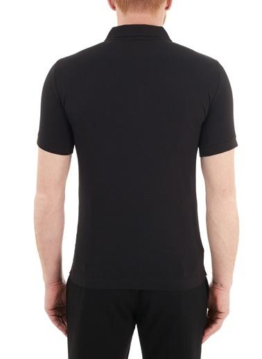 Emporio Armani  Logo Baskılı Pamuklu Düğmeli Polo T Shirt Erkek Polo S 6Hpf16 Pj03Z 0200 Siyah